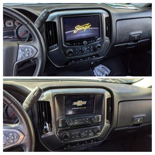 Stinger Heigh10 floating radio with new bezel/trim kit